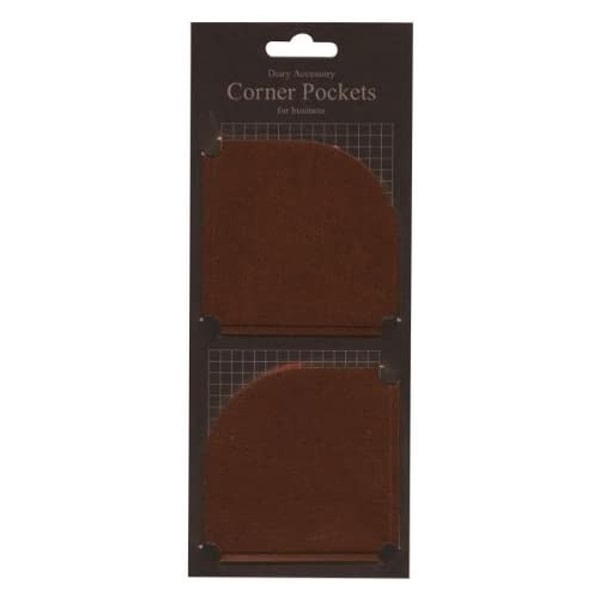 Marks Diary Accessory Corner Pocket For Business Brown
