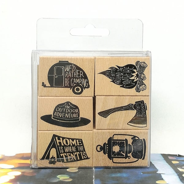 LCN More Camouflage Camping 2 Rubber Stamps