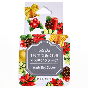 Bande Washi Roll Sticker Christmas Flower