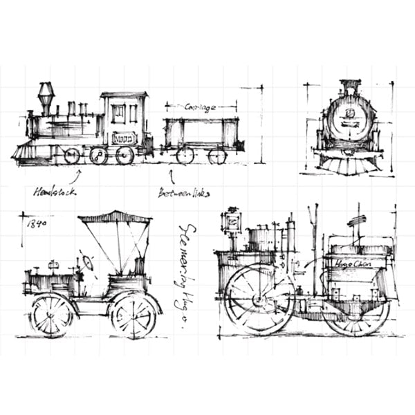 Clear Stamp Moodtape Classic Train