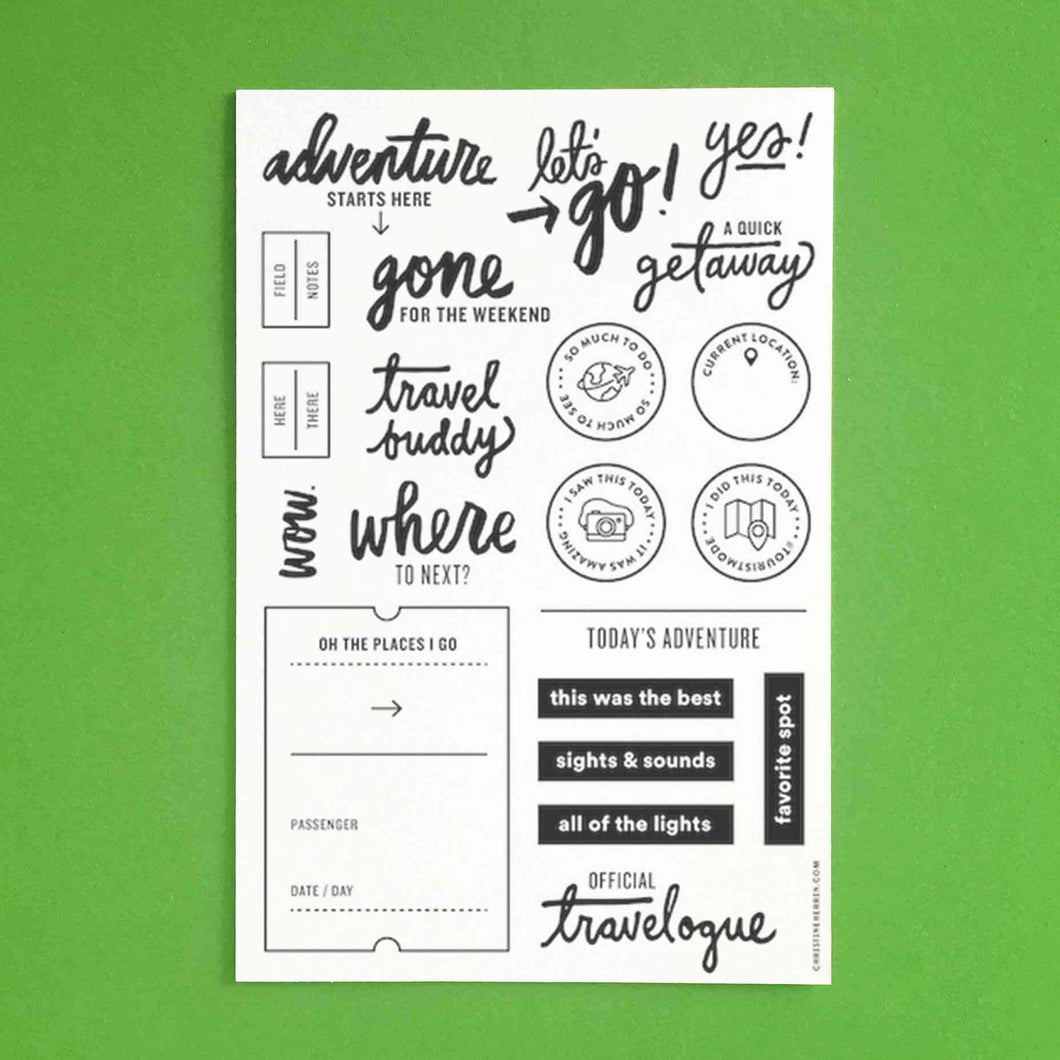 Clear Stamp Set Travelogue