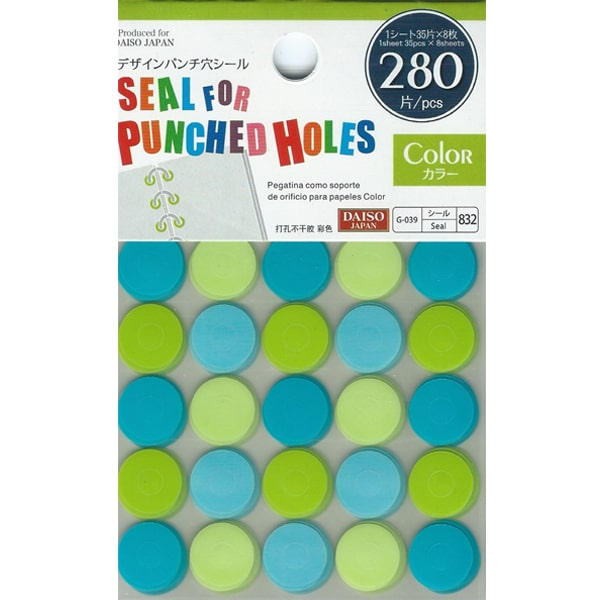 Daiso Seal For Punched Holes Color A