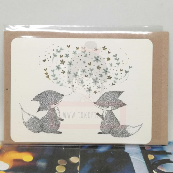 Couple Fox Greeting Card