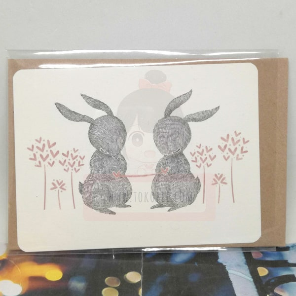 Rabbit Couple In Love Greeting Card