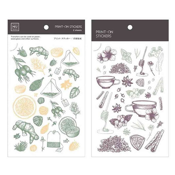 Craft Mu Series Print On Stickers Herbal