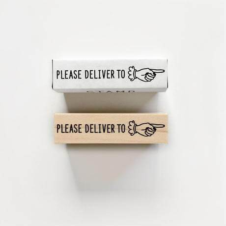 Rubber Stamp Knoop - Please Deliver To