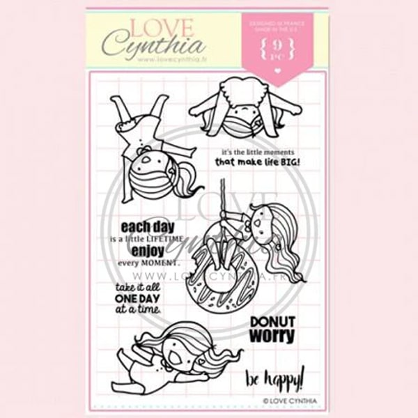 Love Cynthia Clear Stamp - Donut Worry