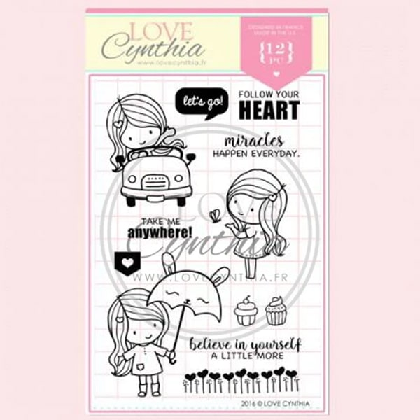 Love Cynthia Clear Stamp - Follow Your Heart