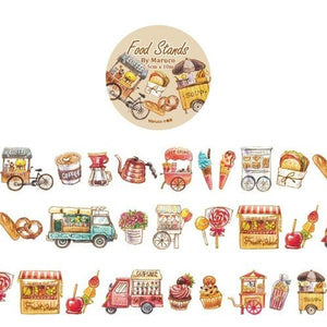Maruco Art Masking Tape Food Stands
