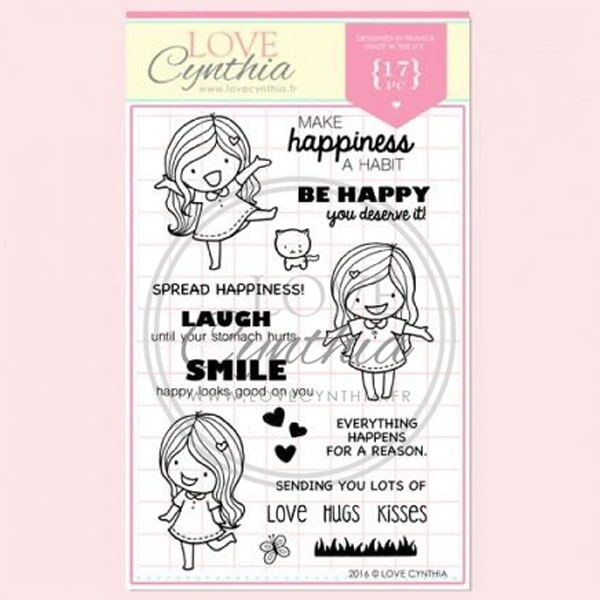 Love Cynthia Clear Stamp - Make Happiness A Habit