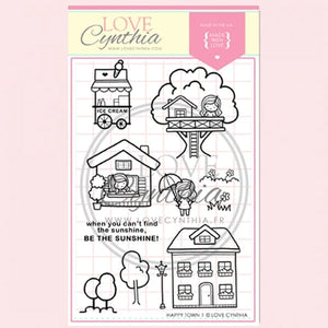 Love Cynthia Clear Stamp - Happy Town 1
