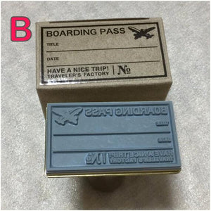 Traveler's Factory Boarding Pass Pattern Stamp