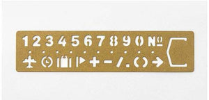 Traveler's Brass Template Bookmark Numeric
