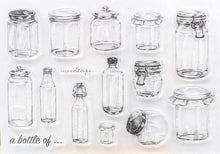 Clear Stamp Moodtape Jars a bottle of