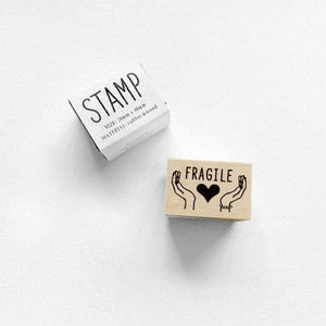 Rubber Stamp Knoop - Fragile