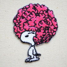 Vintage Peanuts 2 Way Wappen Afro Hair