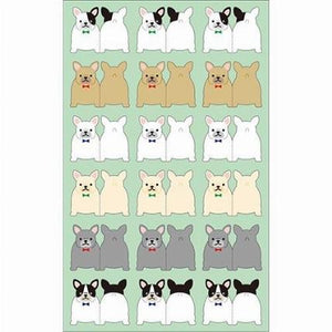 Sticker Index Seal White Bulldog With Green Tie