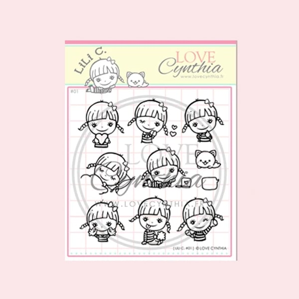 Love Cynthia Clear Stamp - Lili C Series 01