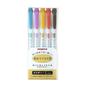 Zebra Mildliner Set 5 Colors