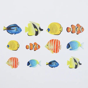 Bande Washi Roll Sticker Tropical Fish