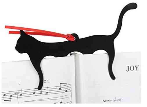 Black Cat Page Holder Bookmark
