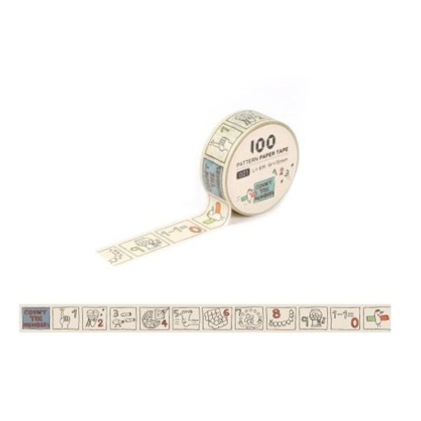 Pattern Paper Tape - Count The Numbers
