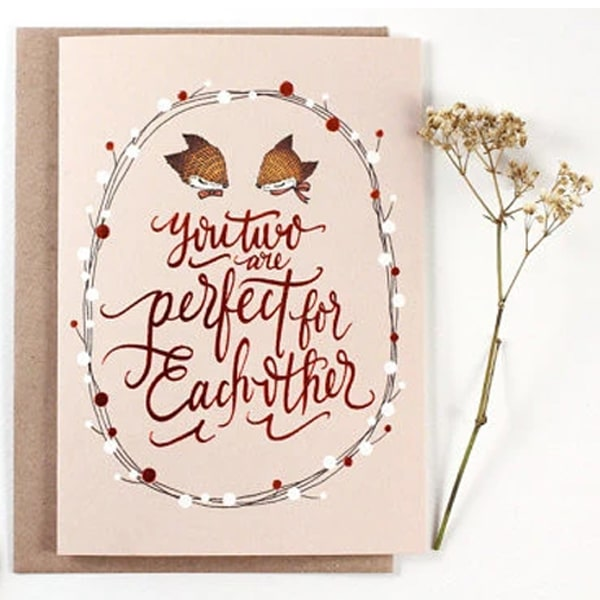 Whimsy Whimsical Greeting Card - You Two Are Perfect For Each Other