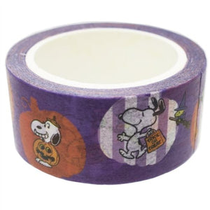 Vintage Peanuts Snoopy Halloween Masking Tape Purple