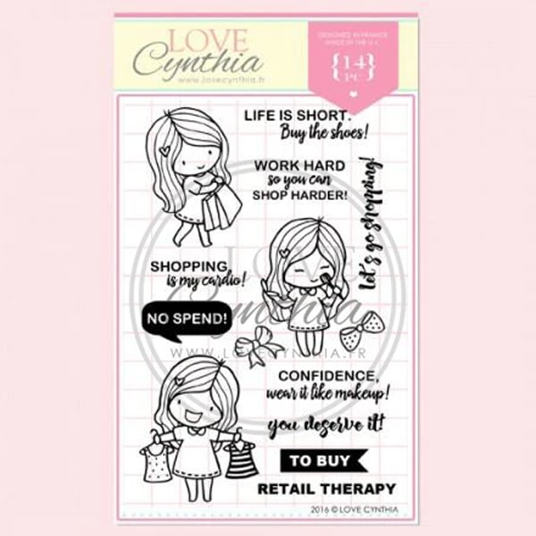 Love Cynthia Clear Stamp - Let's Go Shopping