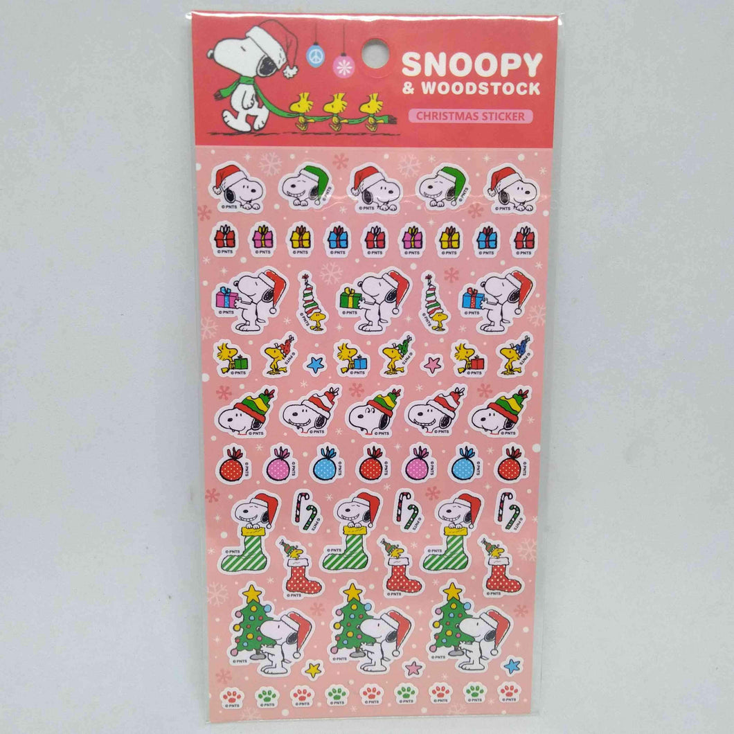 Snoopy & Woodstock Christmas Sticker
