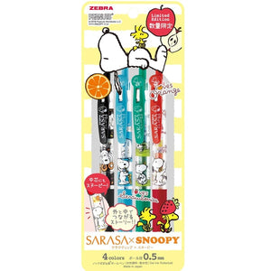 Sarasa Clip X Snoopy 4 Color Set B 0.5mm