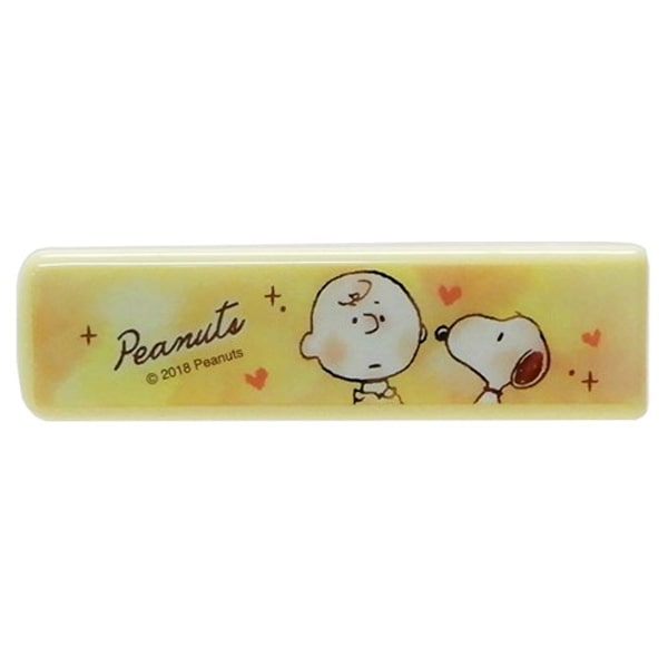 Peanuts Snoopy & Charlie Brown Yellow Compact Stapler
