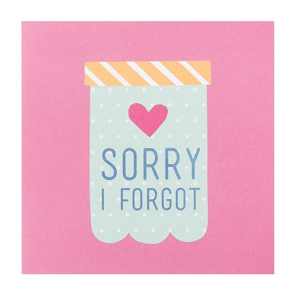 Kikki.K Sorry I Forgot Greeting Card