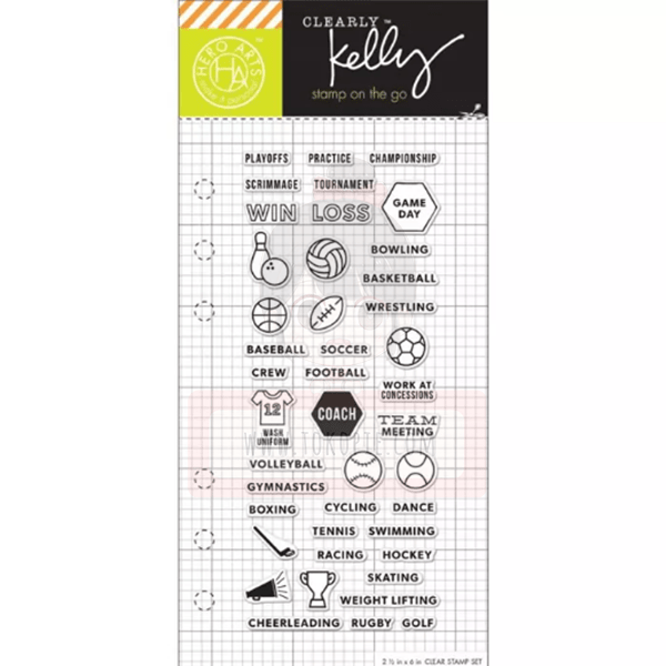 Hero Arts Clear Stamp - Kelly's Sports Planner