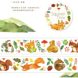 OURS Squirrel Time Masking Tape