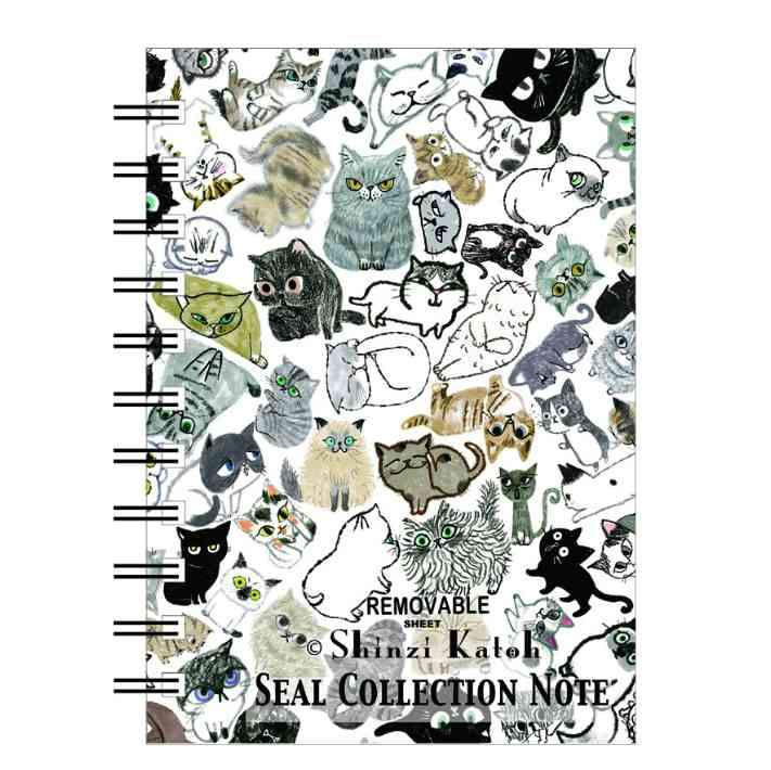 Sticker Book Shinzi Katoh Cat Pattern