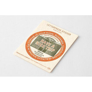 Traveler's Factory Letterpress Sticker Travel Tools Red