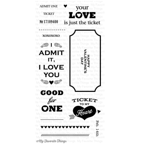 My Favorite Things Clear Stamp - Love's The Ticket