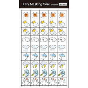 Diary Masking Seal 4 Sheets Weather