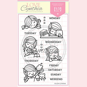 Love Cynthia Clear Stamp - Brand New Week