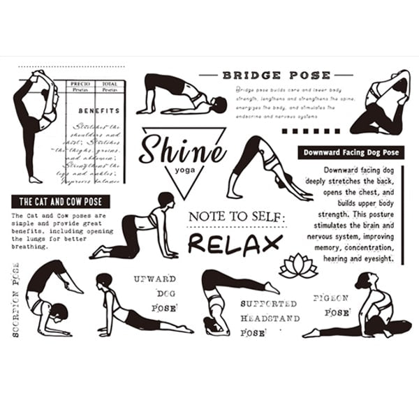 Clear Stamp Moodtape Yoga