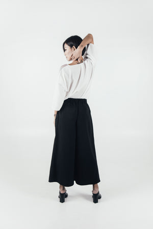 Candy Lo X Unfold | Relax Wide Leg Pants | Black