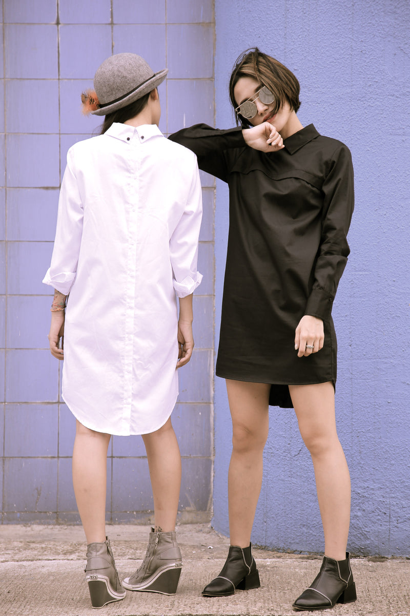 The Back-Buttoned Up Shirt Dress