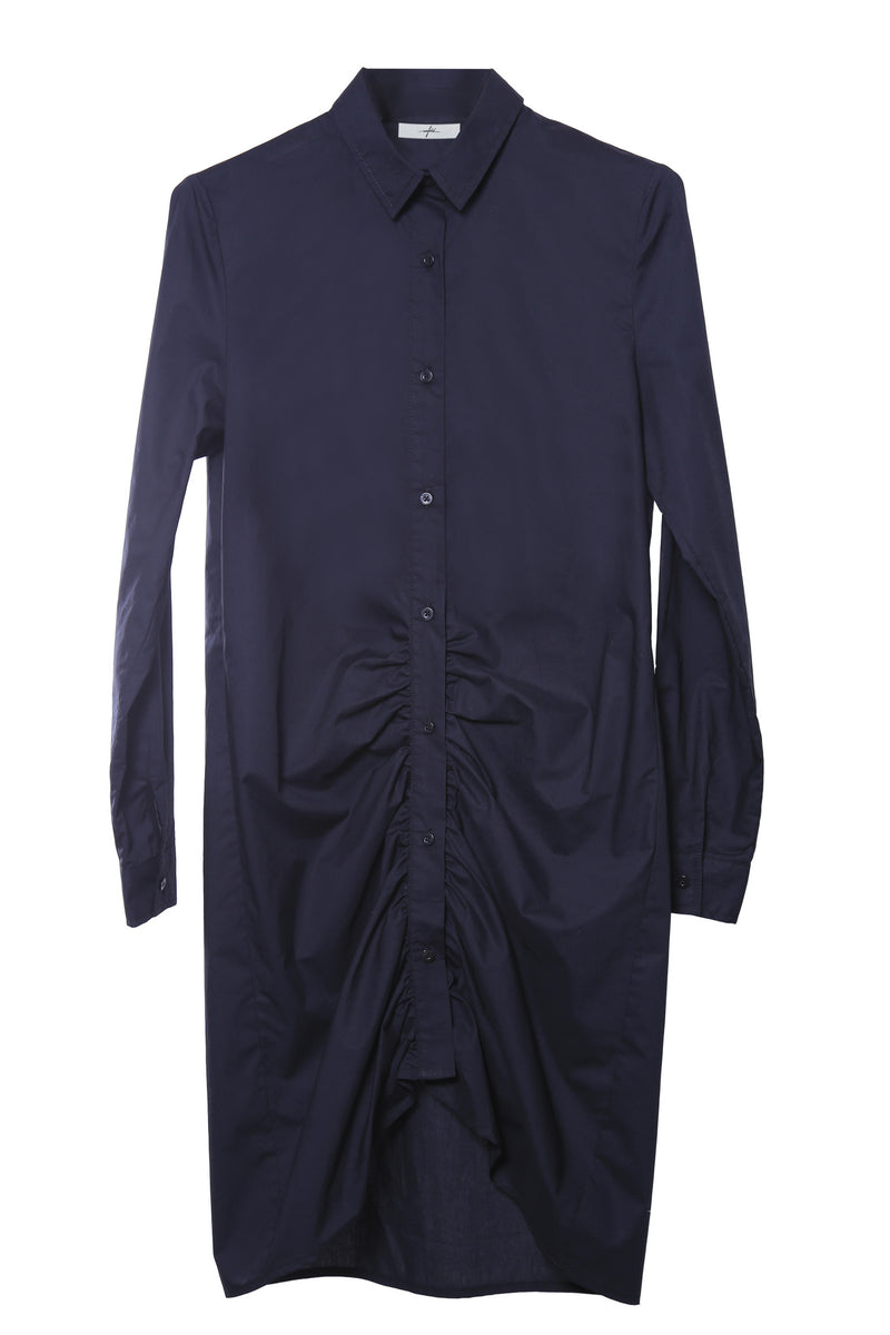 The Scrunched Up Bottom front Shirt Dress
