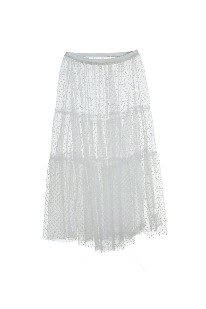 See through Skirt | White