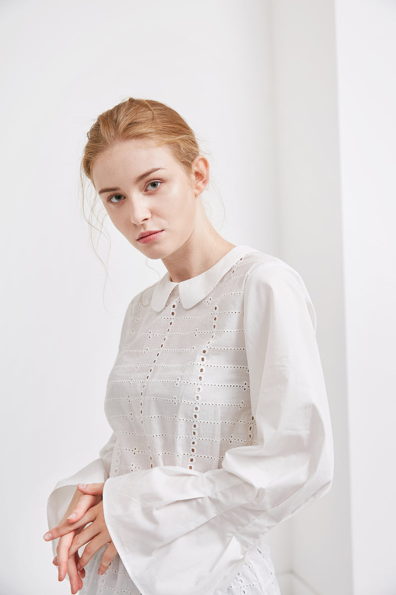 Klaudia Blouse Top | White