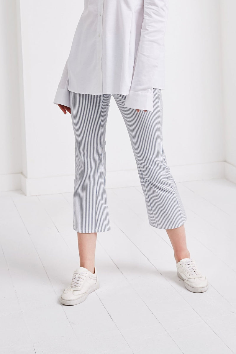 Flare Pants | Blue Stripe