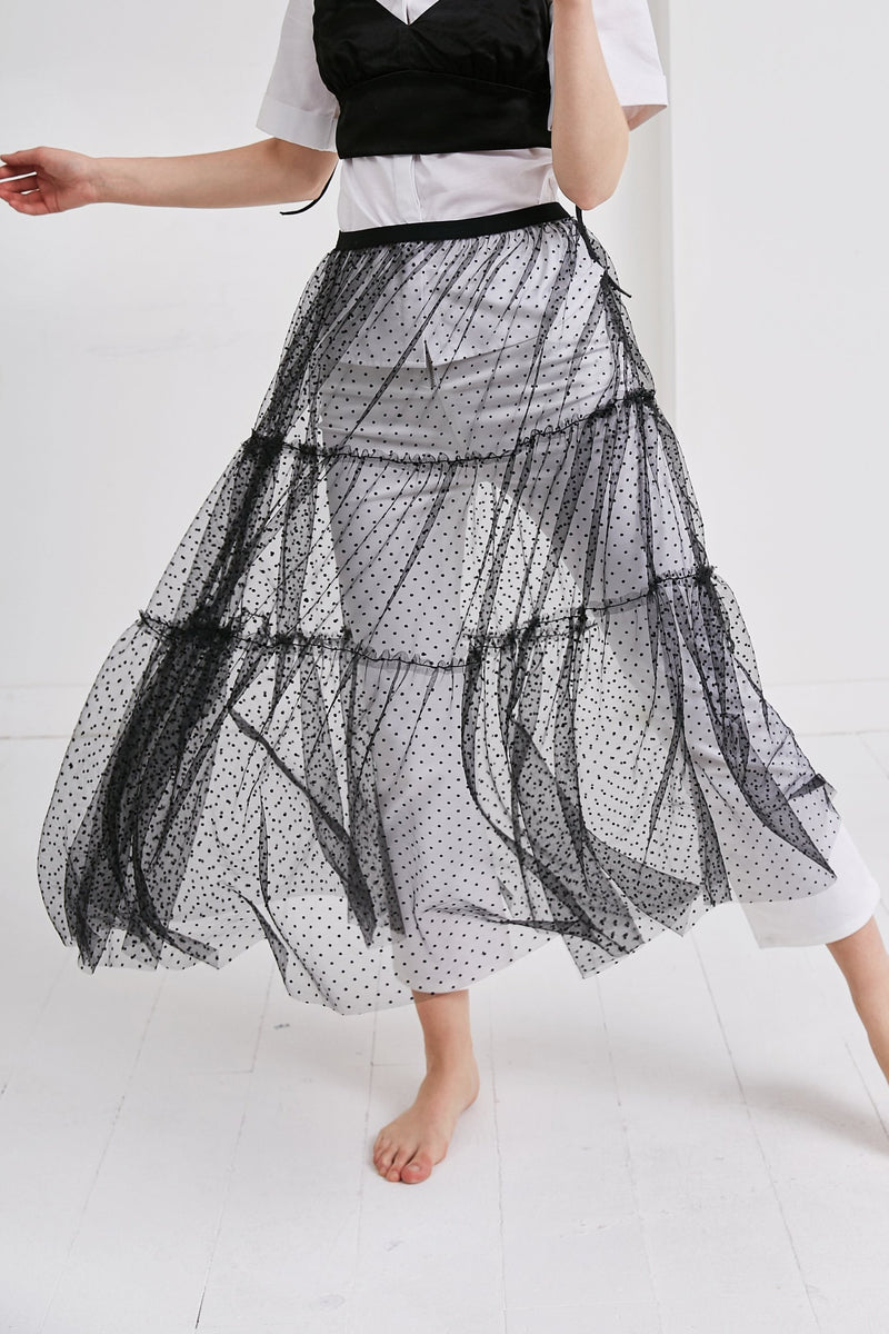 See through Skirt | Black