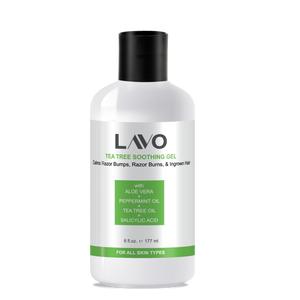 LAVO Tea Tree Gel Tree Soothing Gel - For Ingrown Hair, Razor Bumps & Burns,