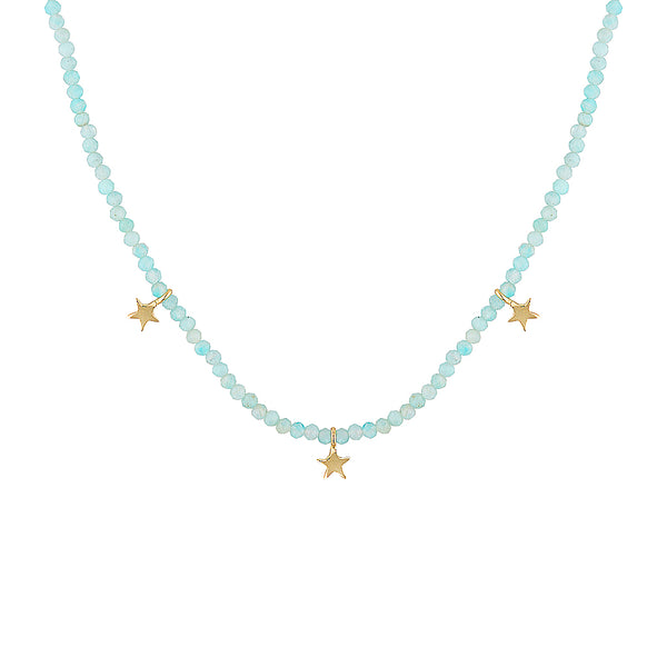 Fiesta Beaded Necklace - Amazonite